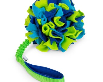 Pompon on JW Pet Hol-EE Roller with bungee