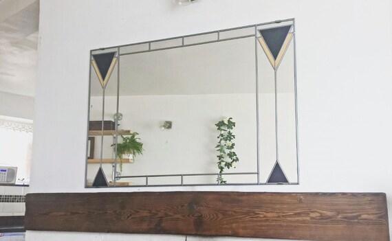 Art Deco Spiegel : Art deco spiegel über kaminsims mackintosh stained glass stil etsy