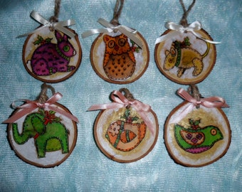 Personalized Rustic Christmas Ornaments