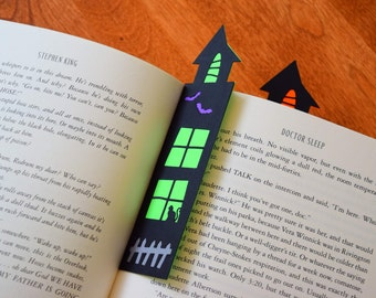 Set of 2 Halloween Haunted House Bookmarks