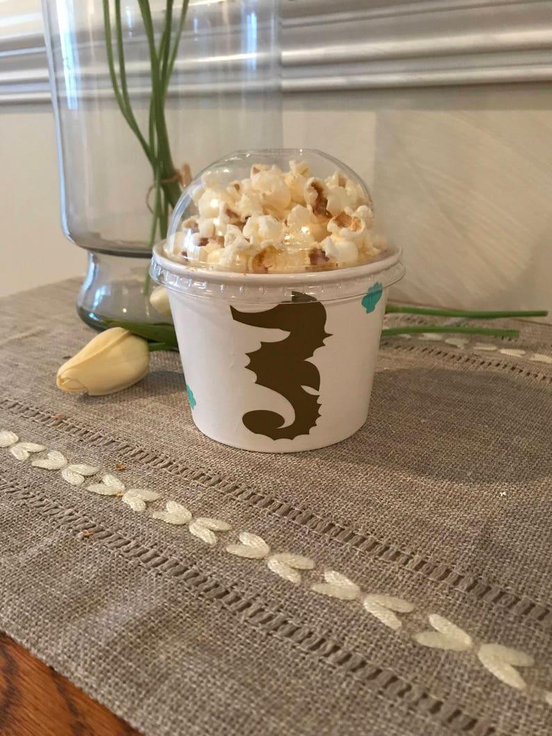 Favor Little Mermaid Ice Cream Cup Mermaid Snack Cup Little Mermaid Birthday Treat Cup Ships in 2-5 days