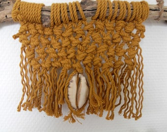 Mini Home Blessing Wooden Stick, Small Mustard  Wall Hanging