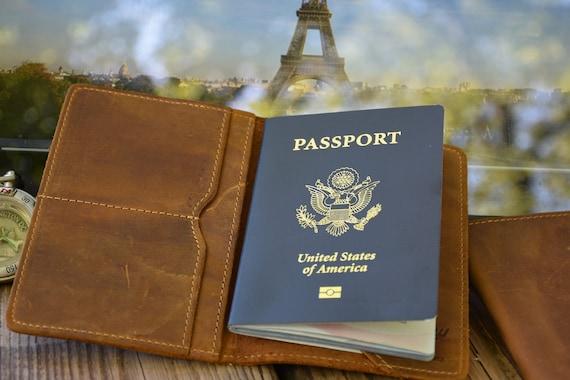 Graduation Gift Custom Passport Holder Leather Passport Cover Travel Accessories  --41028-PC01-039 Passport Cover Passport Case