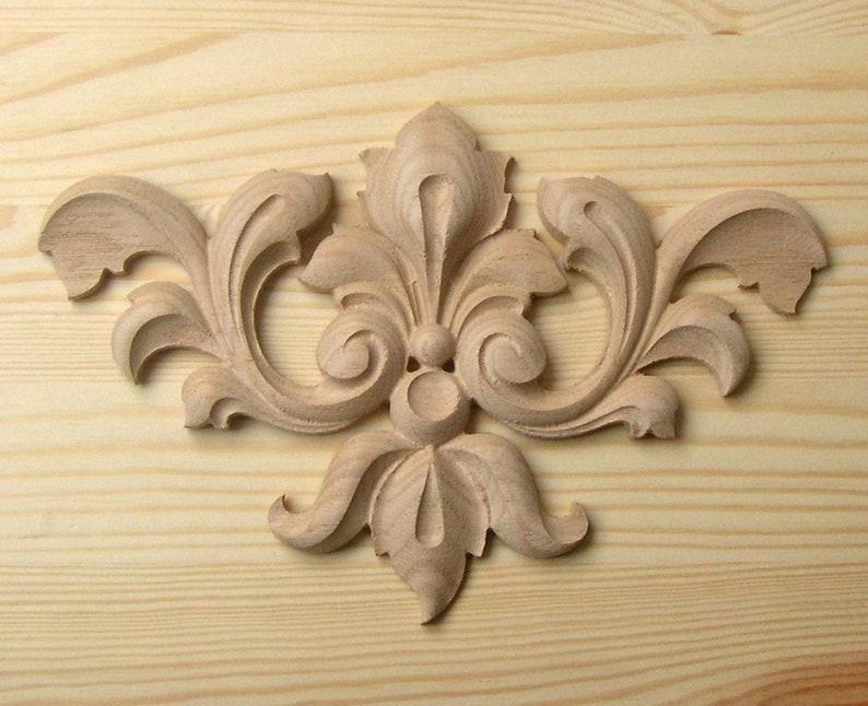 Wooden applique decorative element for decoration of etsy