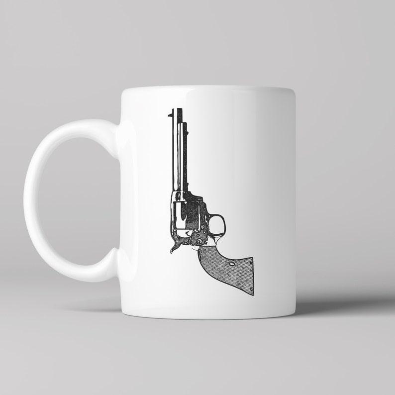 PrintSix ShooterCowboyMagnum Coffee West MugVintage Pistol Old Gun tsCxQrhd