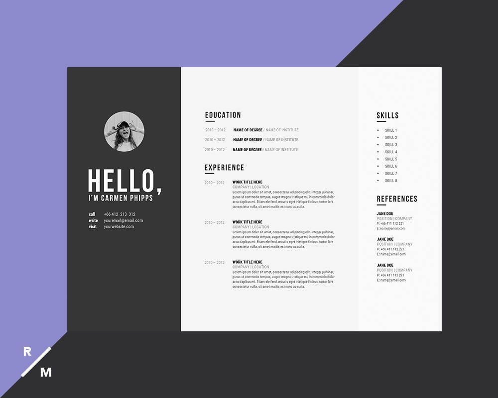 creative resume template  u0026 cover letter for professionals