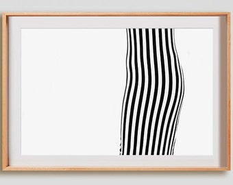 Between Stripes Front Print.  Black and White photography, lines, decor, wall art, artwork, large format photo.