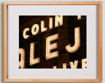 BCN Marquee Print.  Urban photography, theatre, Barcelona, decor, wall art, artwork, large format photo.