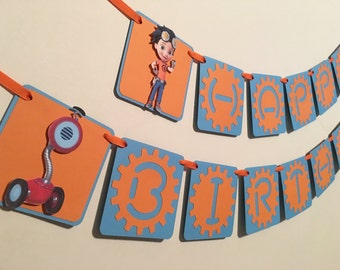Rusty Rivets Birthday Banner/Rusty Rivets Birthday Party/Rusty Rivets Party Decor/Rusty Rivets Cupcake Toppers