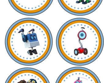 Rusty Rivets Cupcake Toppers/Rusty Rivets Birthday Banner/Rusty Rivets Birthday Party