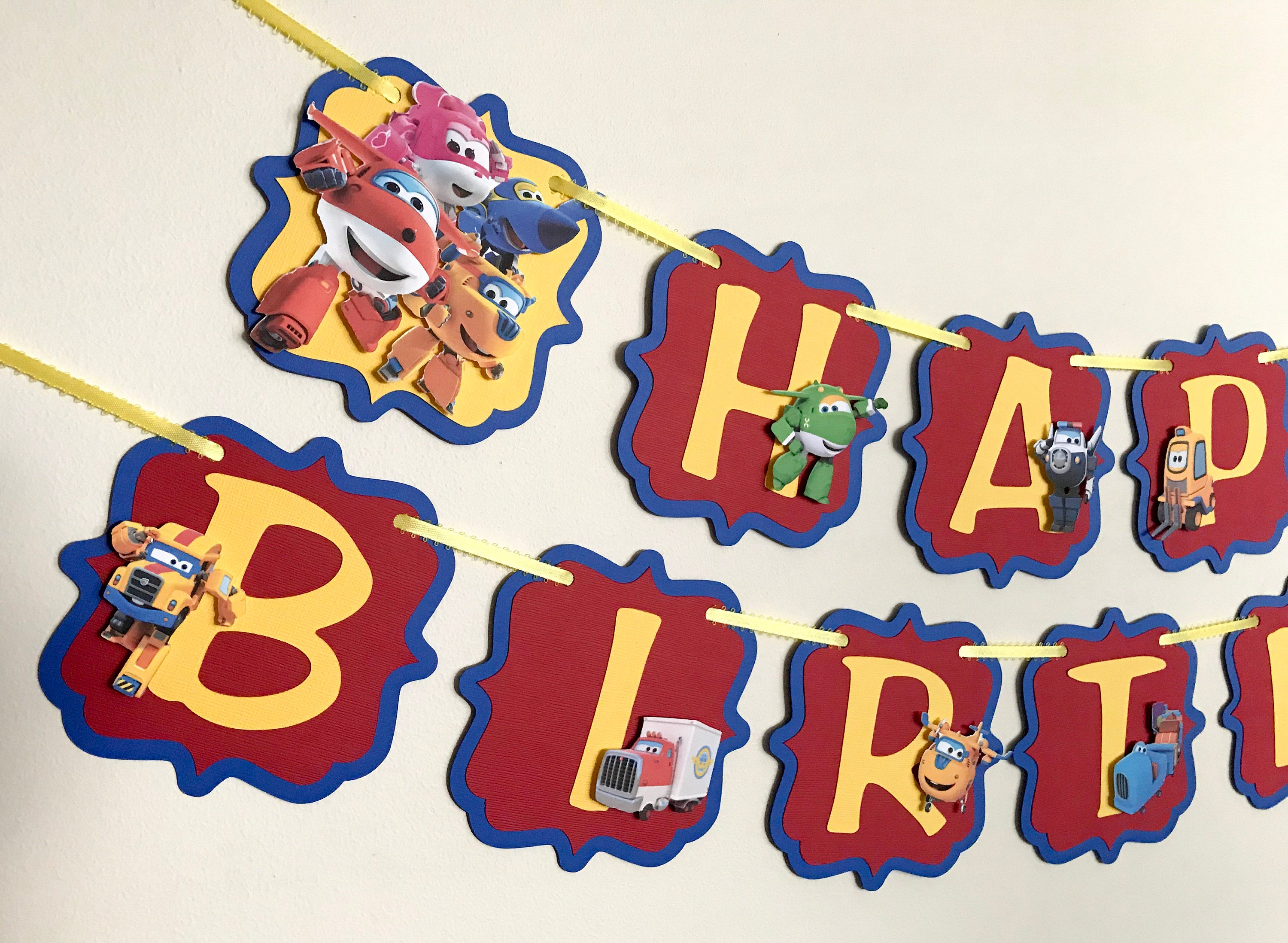 Super Wings Birthday Banner / Super Wings Birthday Party / | Etsy