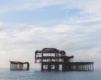 Old Brighton Pier, Brighton photography, Iconic Brighton print: 'West Pier Brighton'