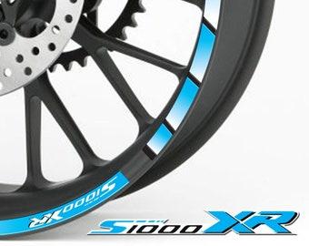 Liserets de jantes BMW S1000XR Rouge Autocollant Moto Sticker