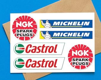yamaha michelin NGK honda adesivi sponsor sticker moto print pvc 13 pz.