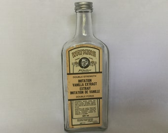 Canadian Vintage Watkins Vanilla Bottle