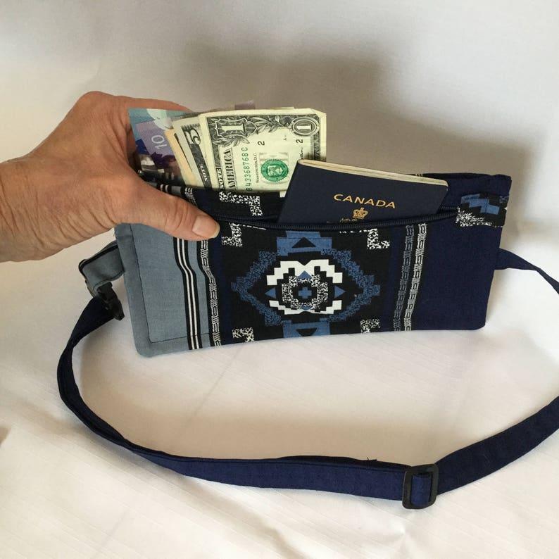 bc8fff1b5442 Western Design Body Wallet/Travel Wallet/Flat Fanny Pack/Money Belt/Secure  Pouch/Running Belt/Under Clothing Wallet/Pick Pocket Proof Pouch