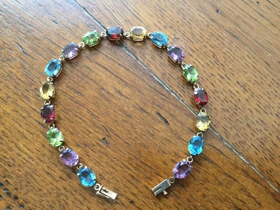 Vintage Tennis bracelet, Vintage 10k tennis bracel