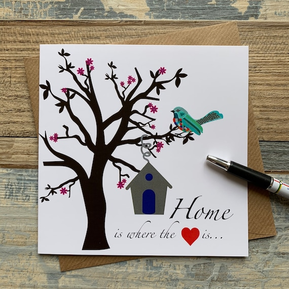 New Home Card Home Is Where The Heart Is