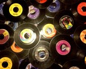 Lot of 25 7 quot Vintage 45 RPM Vinyl Records for Crafts no Jackets or Sleeves Pinterest