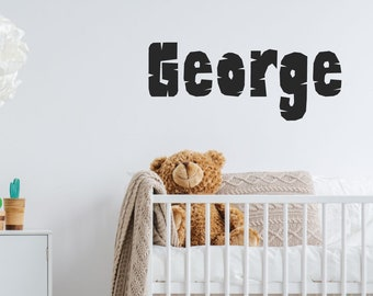 Customised Print Name Wall Sticker