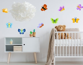 9 Butterfly Wall Stickers