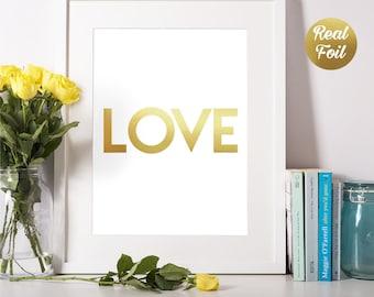 Love Quote Foil Print