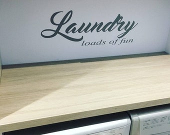 Laundry Room Wall Sticker Quote