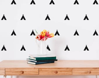 108 Mini Teepee Wall Sticker Shapes