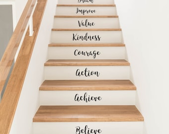 Motivational Quotes Stair Stickers