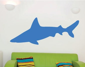 Large Shark Childrens Room Wall Sticker