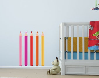 Colourful Pencils Nursery Wall Stickers