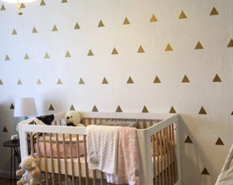 100 Gold Metallic Triangle Wall Stickers