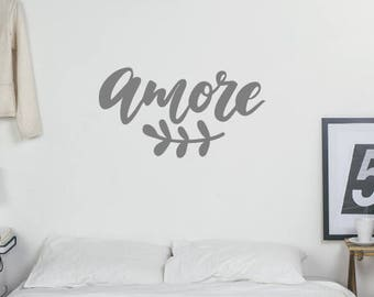 Amore Wall Sticker Quote