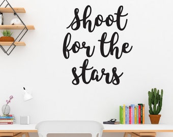 Shoot For The Stars Motivational Wall Sticker Quote
