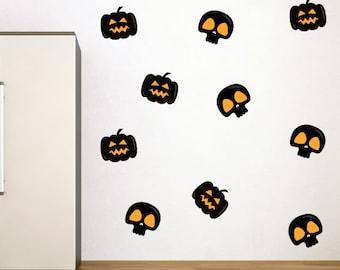 Skull & Pumpkin Halloween Stickers Pack