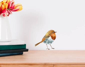 Robin Watercolour Wall Sticker