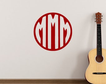 Monogram Triple Initial Sticker