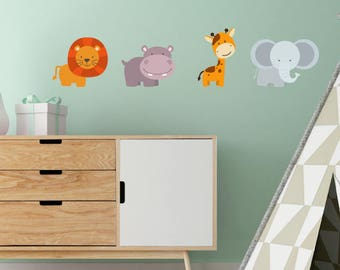Set Of 4 Animal Wall Stickers