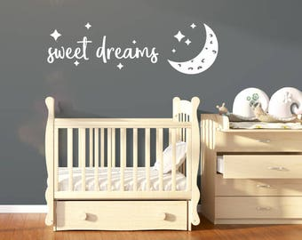 Sweet Dreams Nursery Wall Sticker Quote