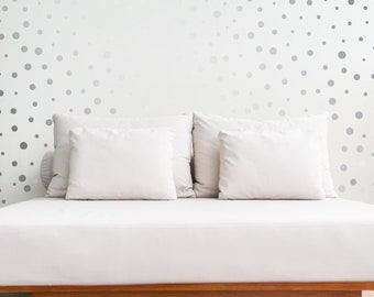 100 Silver Polka Dot Wall stickers