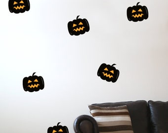 10 Pumpkin Halloween Wall Stickers