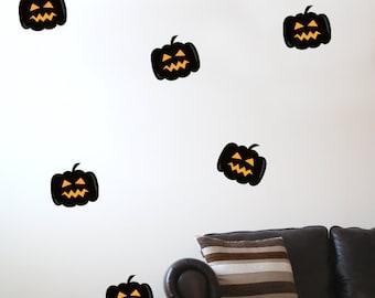10 Pumpkin Halloween Wall Stickers