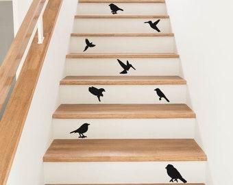 8 Birds Stair Stickers