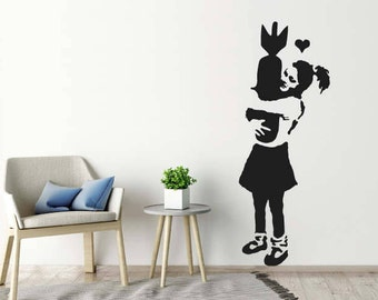 Banksy Wall Sticker - Learn To Love