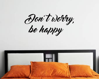 Happy Motivational Wall Sticker Quote
