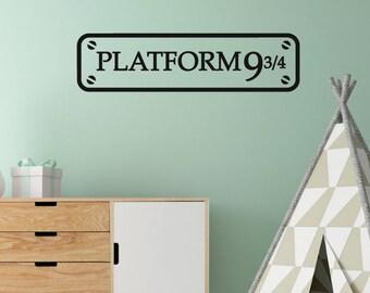 Harry Potter Platform Sign Wall Sticker