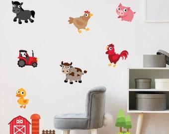 Farm Animals Wall Stickers