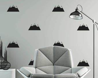 Pack Of 12 Mountains Wall Stickers