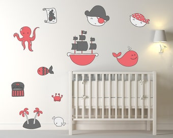 Pirate & Ship Children's Wall Stickers