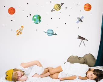 Outer Space & Planets Wall Decal Stickers